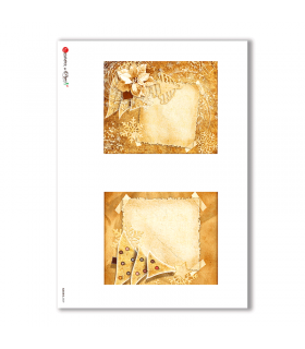 ALBUM-S-0039. Rice paper album small for decoupage.