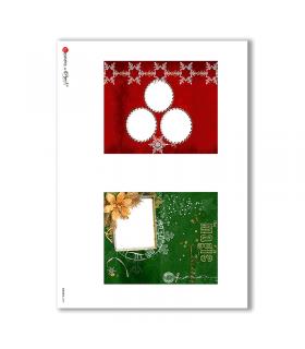 ALBUM-S-0040. Rice paper album small for decoupage.