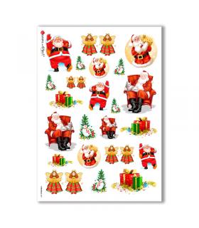 CHRISTMAS-0007. Papel de Arroz Navidad para decoupage.