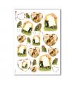 ANIMALS-0088. Carta di riso animali per decoupage.