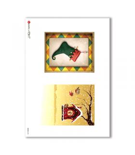 ALBUM-S-0045. Rice paper album small for decoupage.