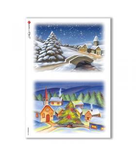 CHRISTMAS-0008. Papel de Arroz Navidad para decoupage.