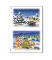 CHRISTMAS-0008. Carta di riso Natale per decoupage.