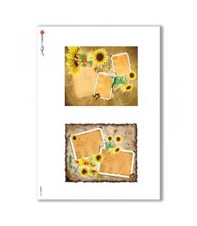 ALBUM-S-0048. Carta di riso album small per decoupage