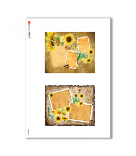 ALBUM-S-0048. Rice paper album small for decoupage.