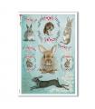 ANIMALS-0096. Carta di riso animali per decoupage.