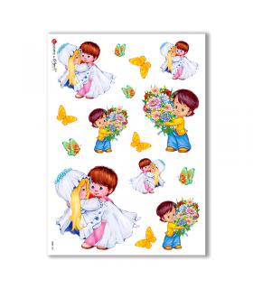 BABY-0001. Carta di riso bambini per decoupage.