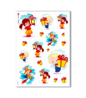 BABY-0004. Carta di riso bambini per decoupage.