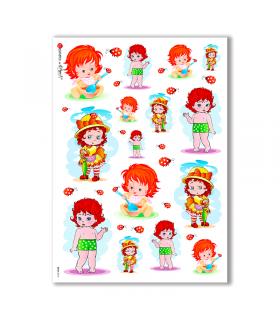 BABY-0012. Carta di riso bambini per decoupage.