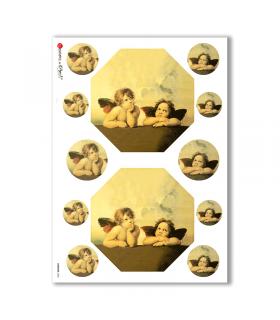 ARTWORK-0003. Papel de Arroz obras de arte para decoupage.