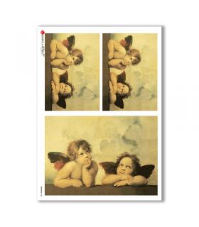 ARTWORK-0005. Carta di riso opere d'arte per decoupage.