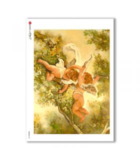 ARTWORK-0006. Carta di riso opere d'arte per decoupage.