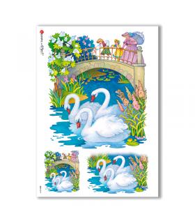BABY-0019. Carta di riso bambini per decoupage.