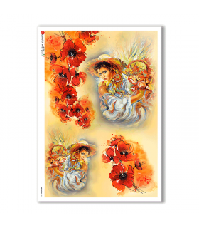 ARTWORK-0011. Artwork Rice Paper for decoupage.