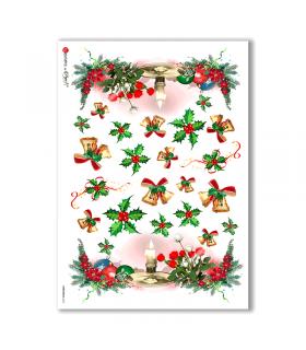 CHRISTMAS-0013. Papel de Arroz Navidad para decoupage.
