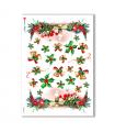 CHRISTMAS-0013. Carta di riso Natale per decoupage.