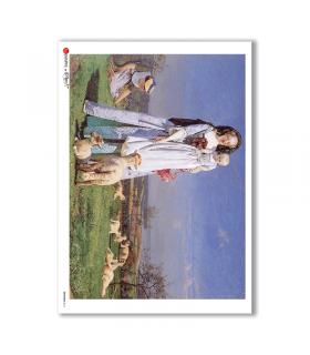 ARTWORK-0016. Carta di riso opere d'arte per decoupage.