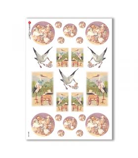 BABY-0028. Carta di riso bambini per decoupage.