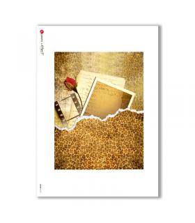ALBUM-L-0011. Rice Paper album for decoupage.