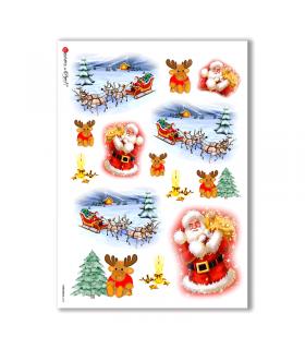 CHRISTMAS-0014. Carta di riso Natale per decoupage.