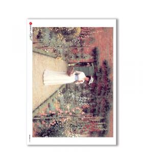 ARTWORK-0018. Papel de Arroz obras de arte para decoupage.