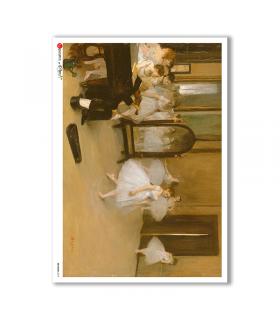 ARTWORK-0019. Carta di riso opere d'arte per decoupage.