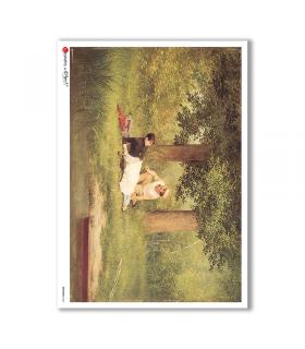 ARTWORK-0020. Papel de Arroz obras de arte para decoupage.