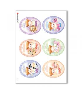 BABY-0033. Carta di riso bambini per decoupage.