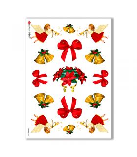 CHRISTMAS-0015. Carta di riso Natale per decoupage.