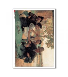 ARTWORK-0025. Carta di riso opere d'arte per decoupage.