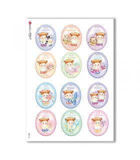BABY-0035. Carta di riso bambini per decoupage.