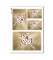 ARTWORK-0029. Carta di riso opere d'arte per decoupage.