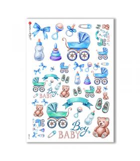BABY-0037. Carta di riso bambini per decoupage.