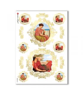 ARTWORK-0036. Carta di riso opere d'arte per decoupage.