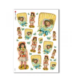BABY-0043. Carta di riso bambini per decoupage.