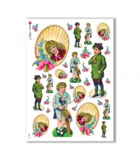 BABY-0044. Carta di riso bambini per decoupage.