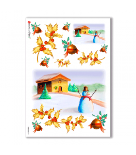 CHRISTMAS-0019. Papel de Arroz Navidad para decoupage.