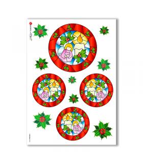 CHRISTMAS-0020. Carta di riso Natale per decoupage.