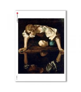 ARTWORK-0058. Carta di riso opere d'arte per decoupage.