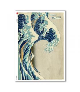 ARTWORK-0060. Papel de Arroz obras de arte para decoupage.