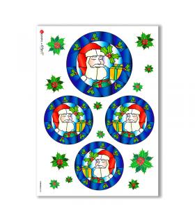 CHRISTMAS-0022. Papel de Arroz Navidad para decoupage.
