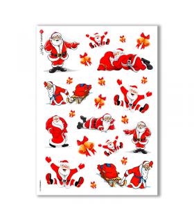 CHRISTMAS-0023. Carta di riso Natale per decoupage.