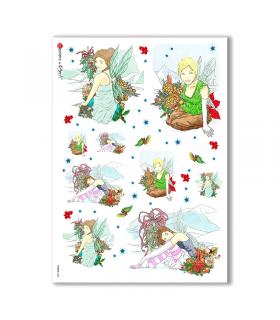 FAIRIES-0008. Rice Paper for decoupage fairies.