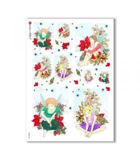 FAIRIES-0009. Rice Paper for decoupage fairies.