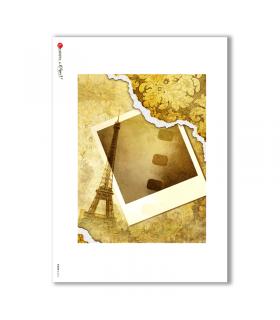 ALBUM-L-0012. Carta di riso album per decoupage.