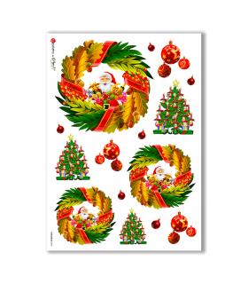 CHRISTMAS-0024. Papel de Arroz Navidad para decoupage.