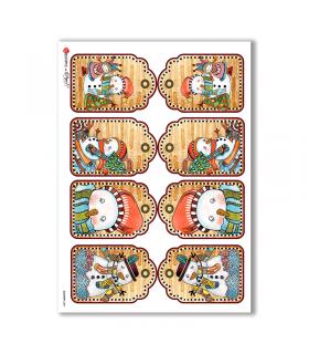 COUNTRY-0009. Carta di riso country per decoupage.