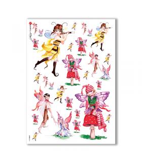 FAIRIES-0011. Rice Paper for decoupage fairies.