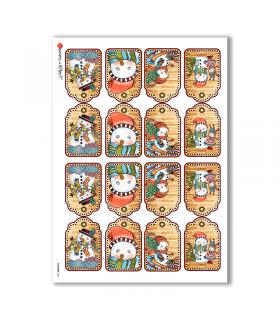COUNTRY-0011. Carta di riso country per decoupage.