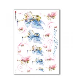 FAIRIES-0013. Rice Paper for decoupage fairies.